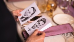 Caricaturist Wedding menus Planning in Bordeaux France by French Wedding Company