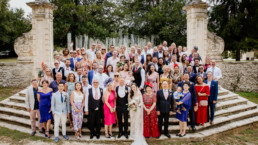 Destination Wedding in Bordeaux France group photo planning by French Wedding Company